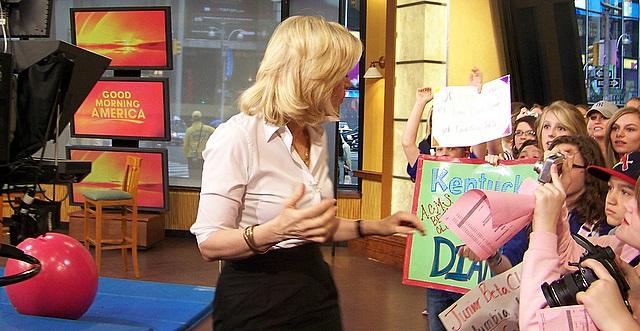 Good Morning America Diane Sawyer : Junior beta club visits diane sawyer gma in nyc on