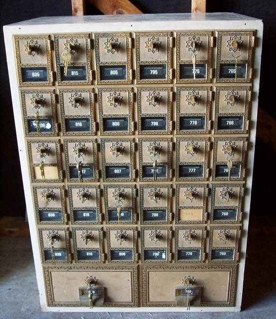 Vintage US Post Office Mailbox unit for sale. With brass doors, from the  old Columbia, KY Post Office. $475.00. Call (270) 378-2360. Thanks, Eddie  Kessler. - ADV) Old Columbia Post Office Boxes For Sale On ColumbiaMagazine.com