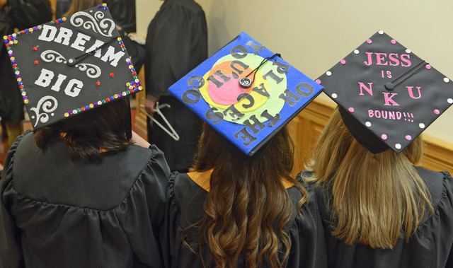 Decorated Mortar Boards Before Commencement Photo 54821 On Cm Mobile
