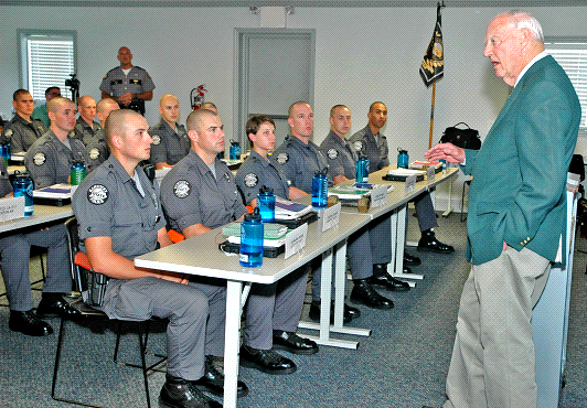 Ted Bassett, Legend in Kentucky State Police addresses cadets on ...