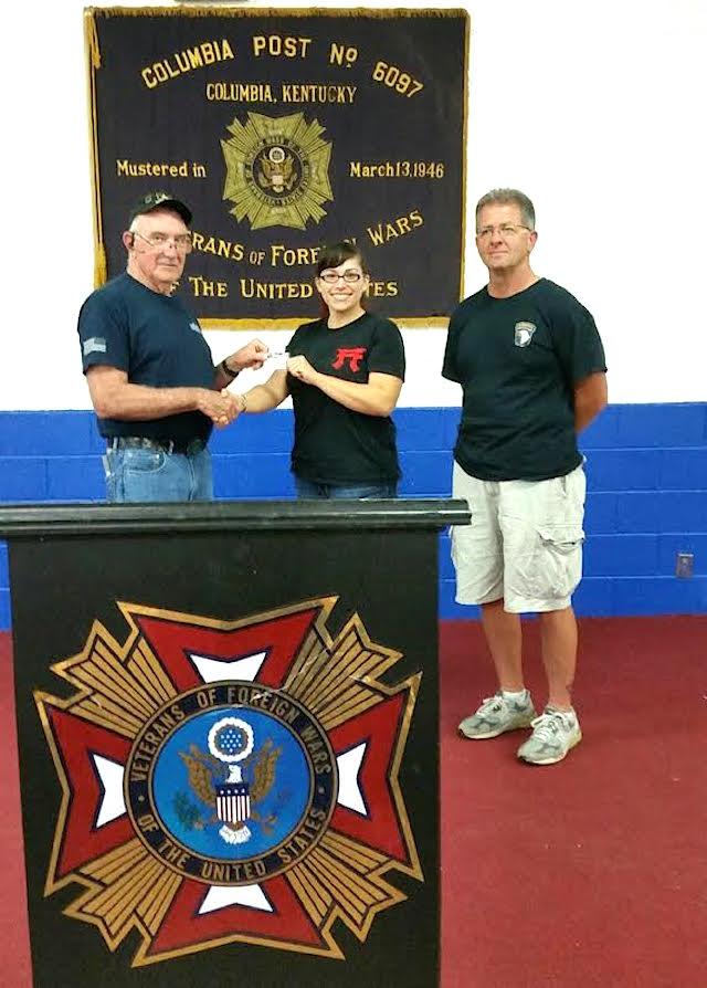 Renee Blackaby, first female Columbia VFW Post 6097 member