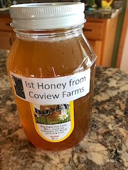 Ad) Local honey from Big Black Dog Farm for sale at FM2 on